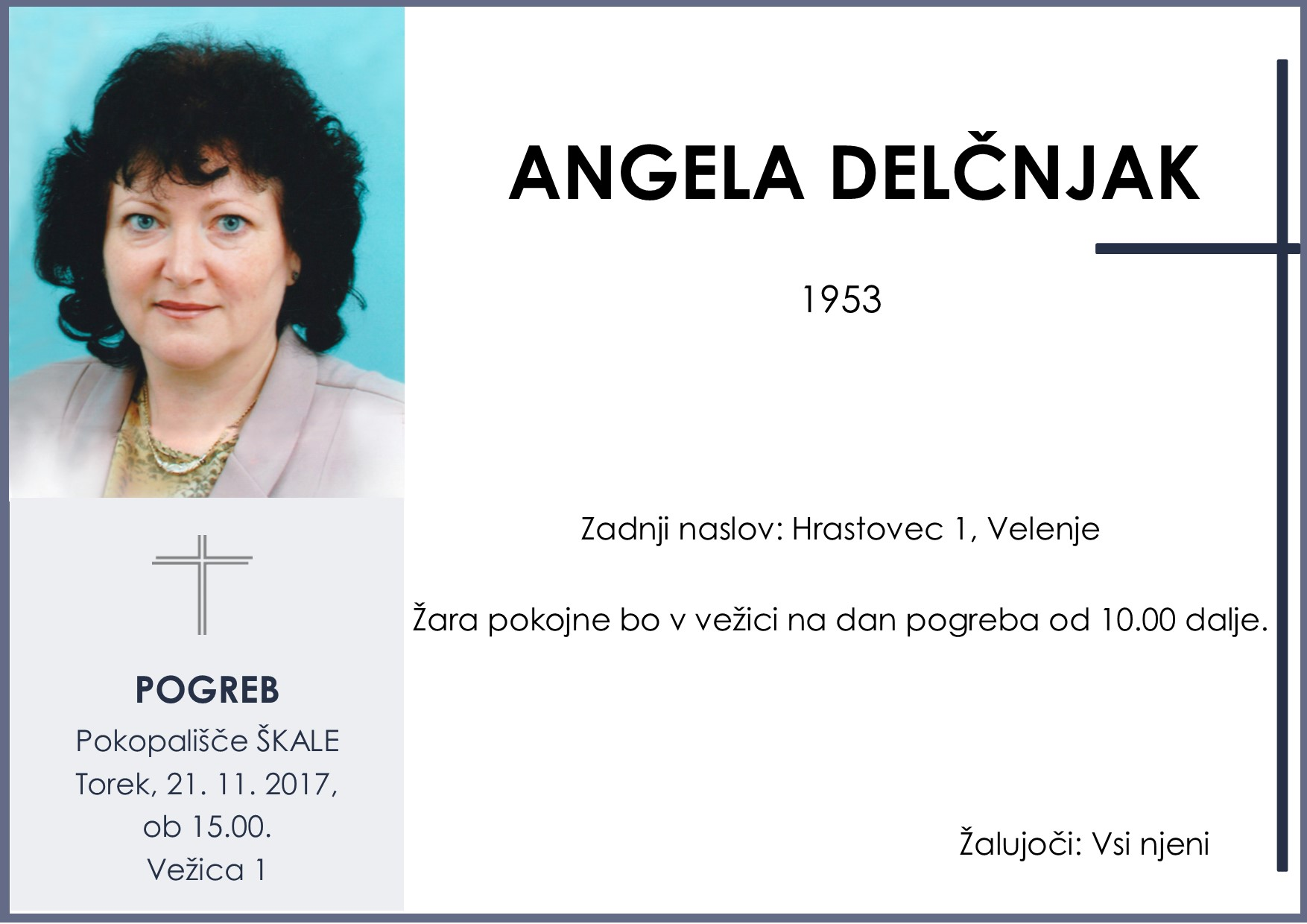 ANGELA DELČNJAK, Škale, 21. 11. 2017