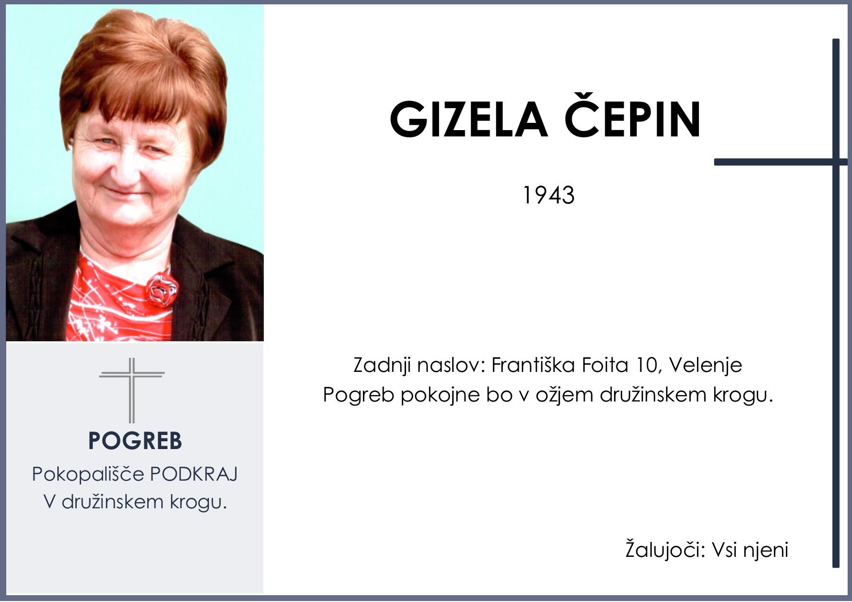 GIZELA ČEPIN, Podkraj, 11. 02. 2019