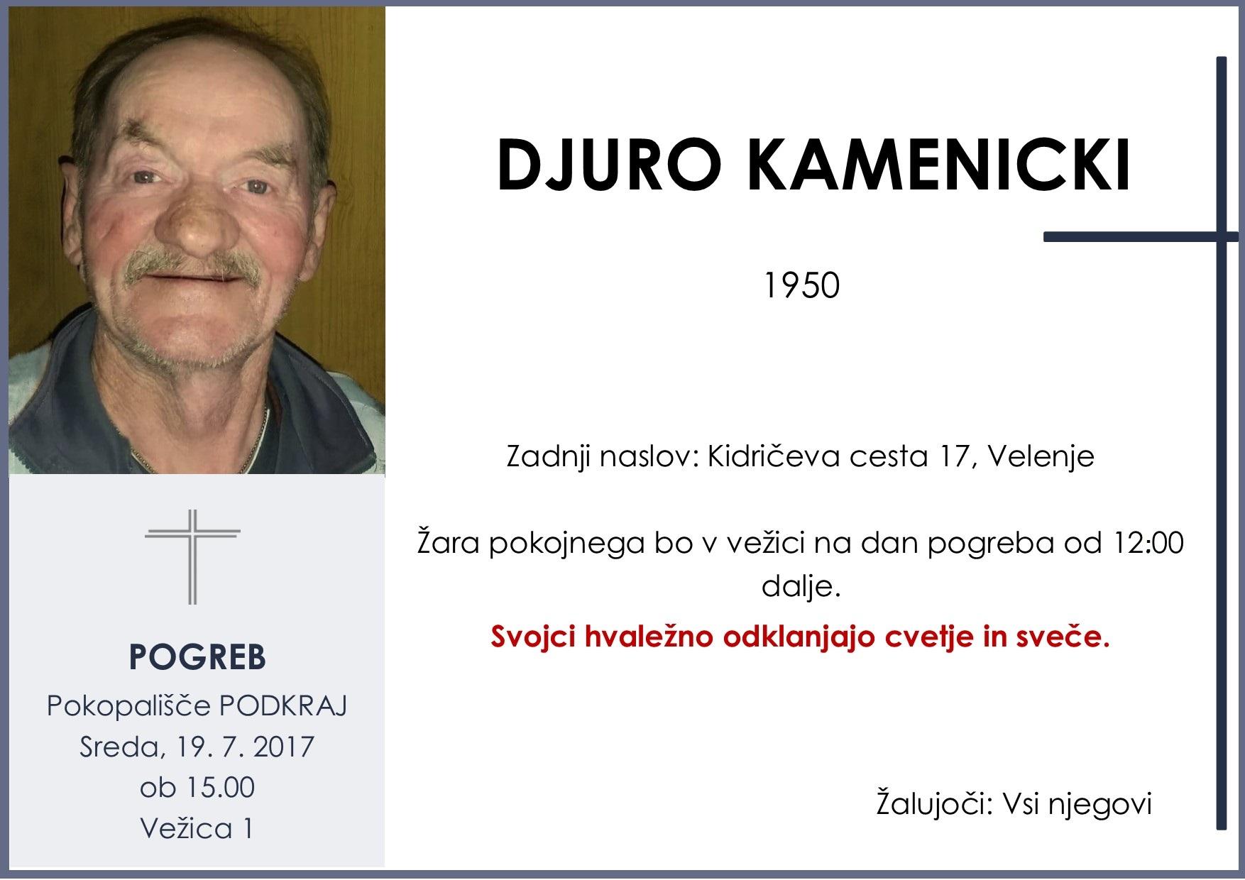 DJURO KAMENICKI, Podkraj, 19. 7. 2017