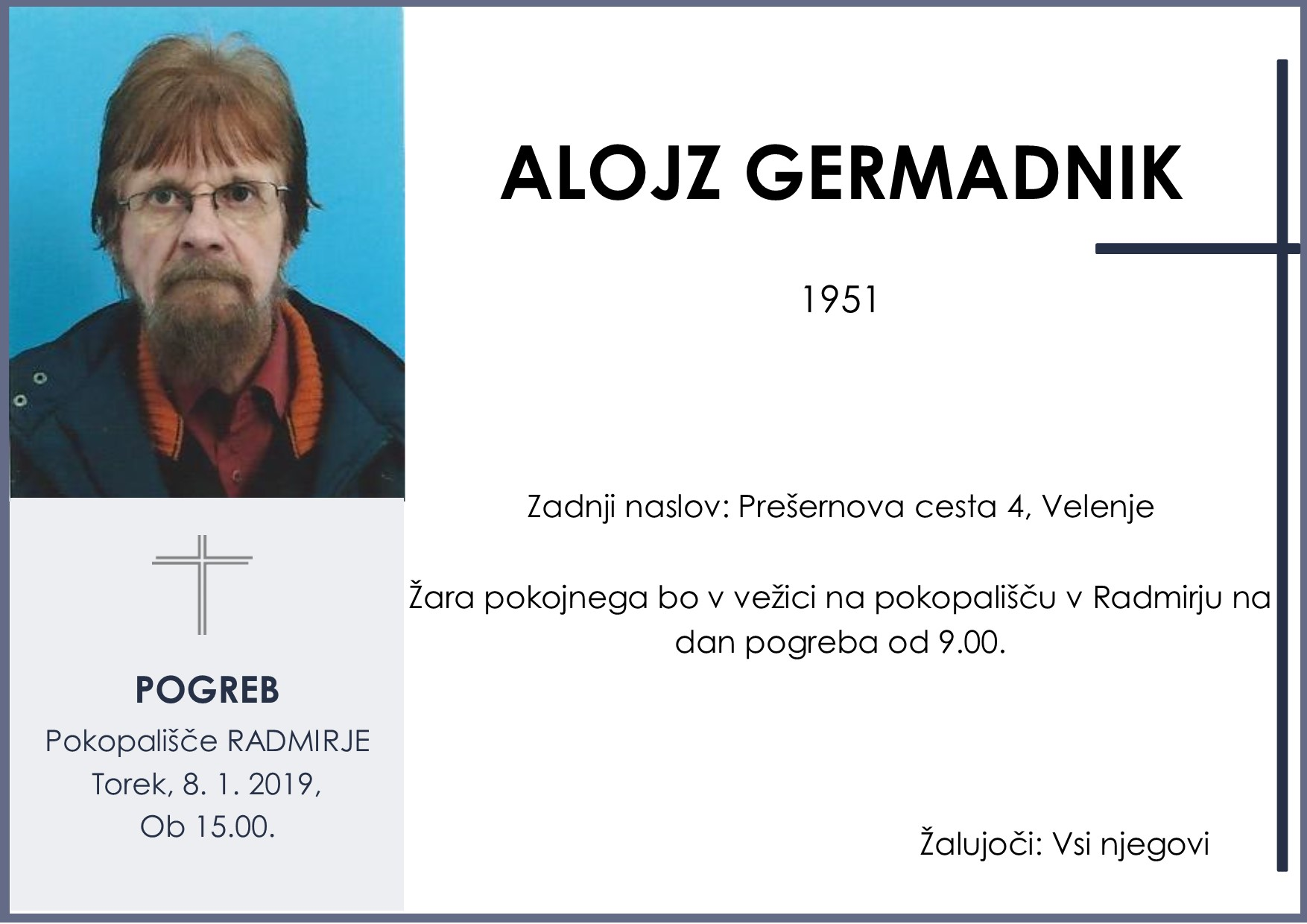 ALOJZ GERMADNIK, Radmirje, 08. 01. 2019