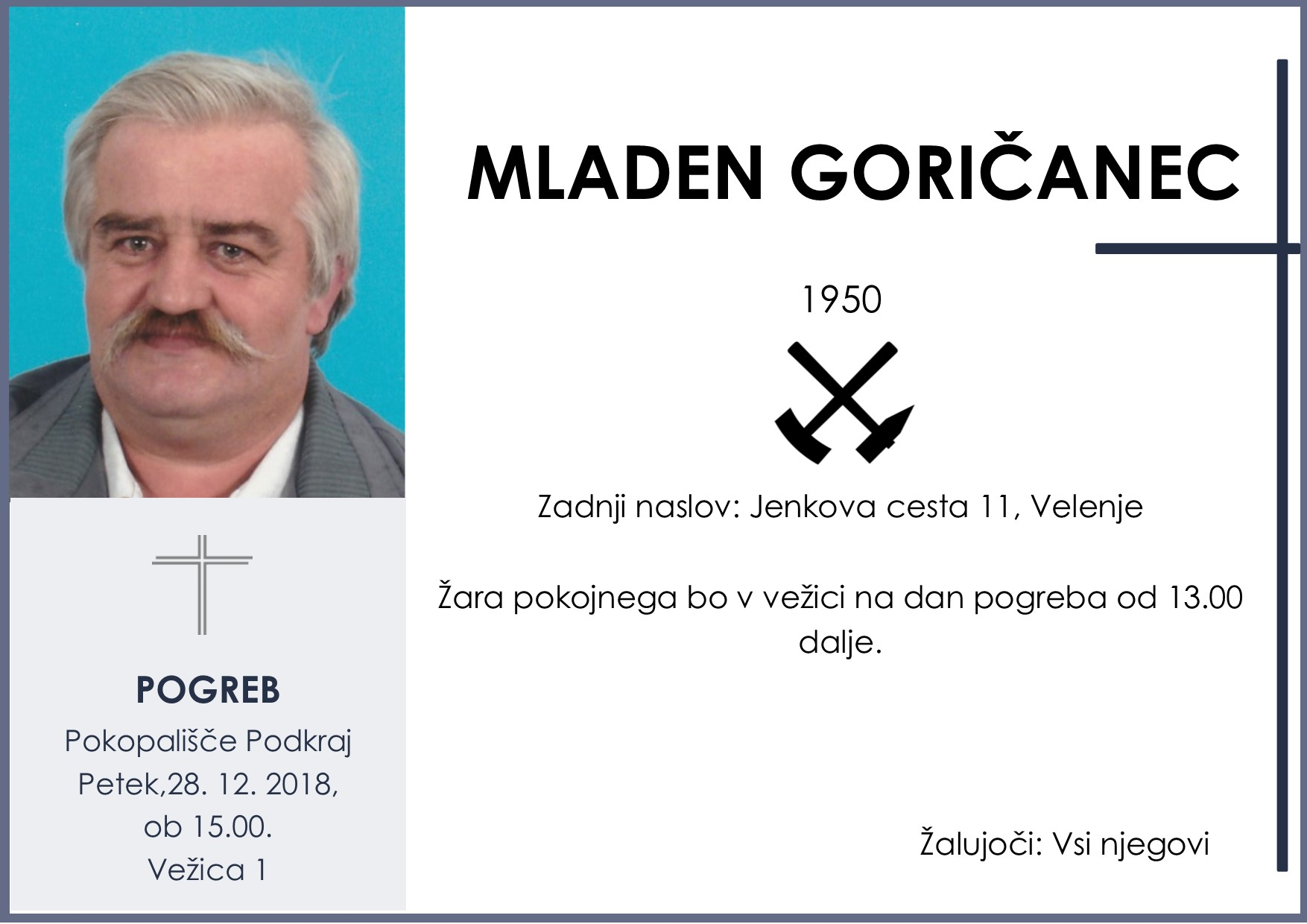 MLADEN GORIČANEC, Podkraj, 28. 12. 2018