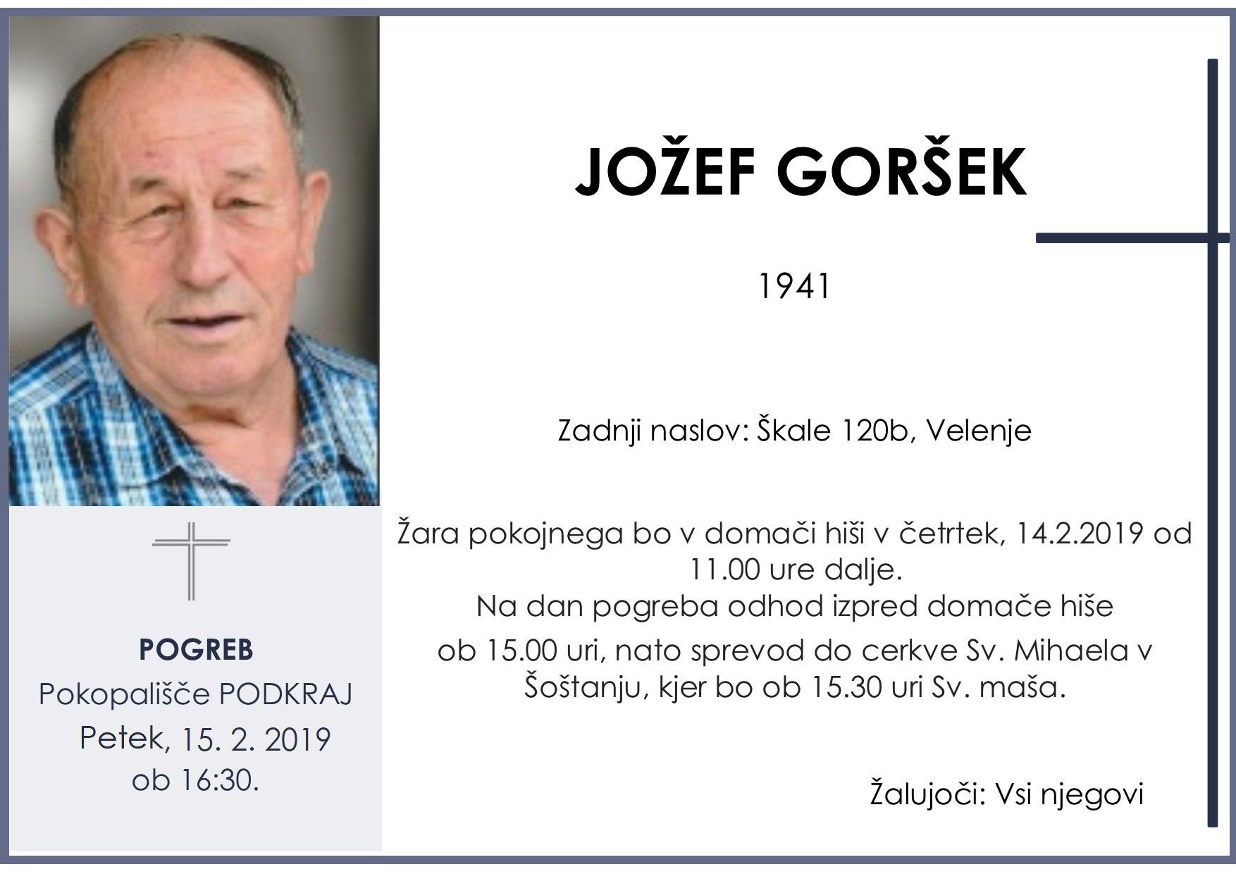 JOŽEF GORŠEK, Podkraj, 15. 02. 2019