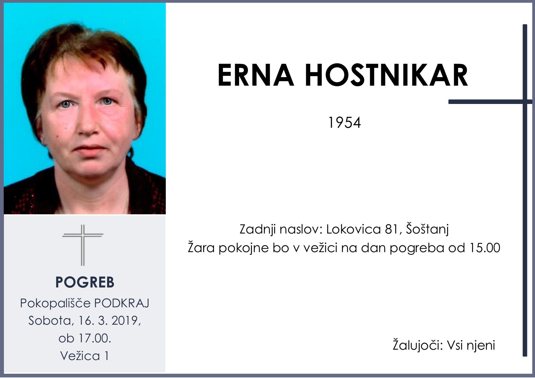 ERNA HOSTNIKAR, Podkraj, 16. 3. 2019