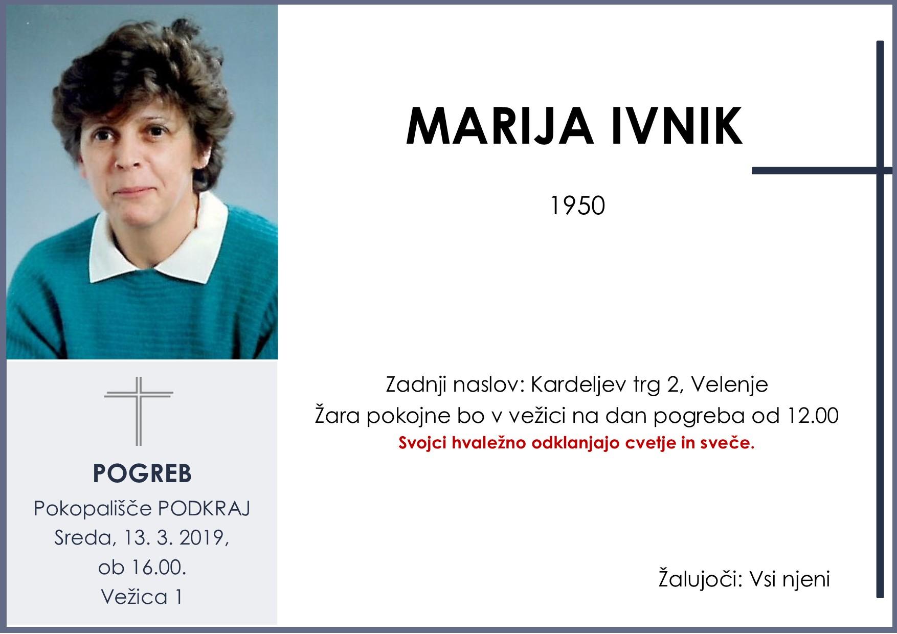 MARIJA IVNIK, Podkraj, 13. 03. 2019