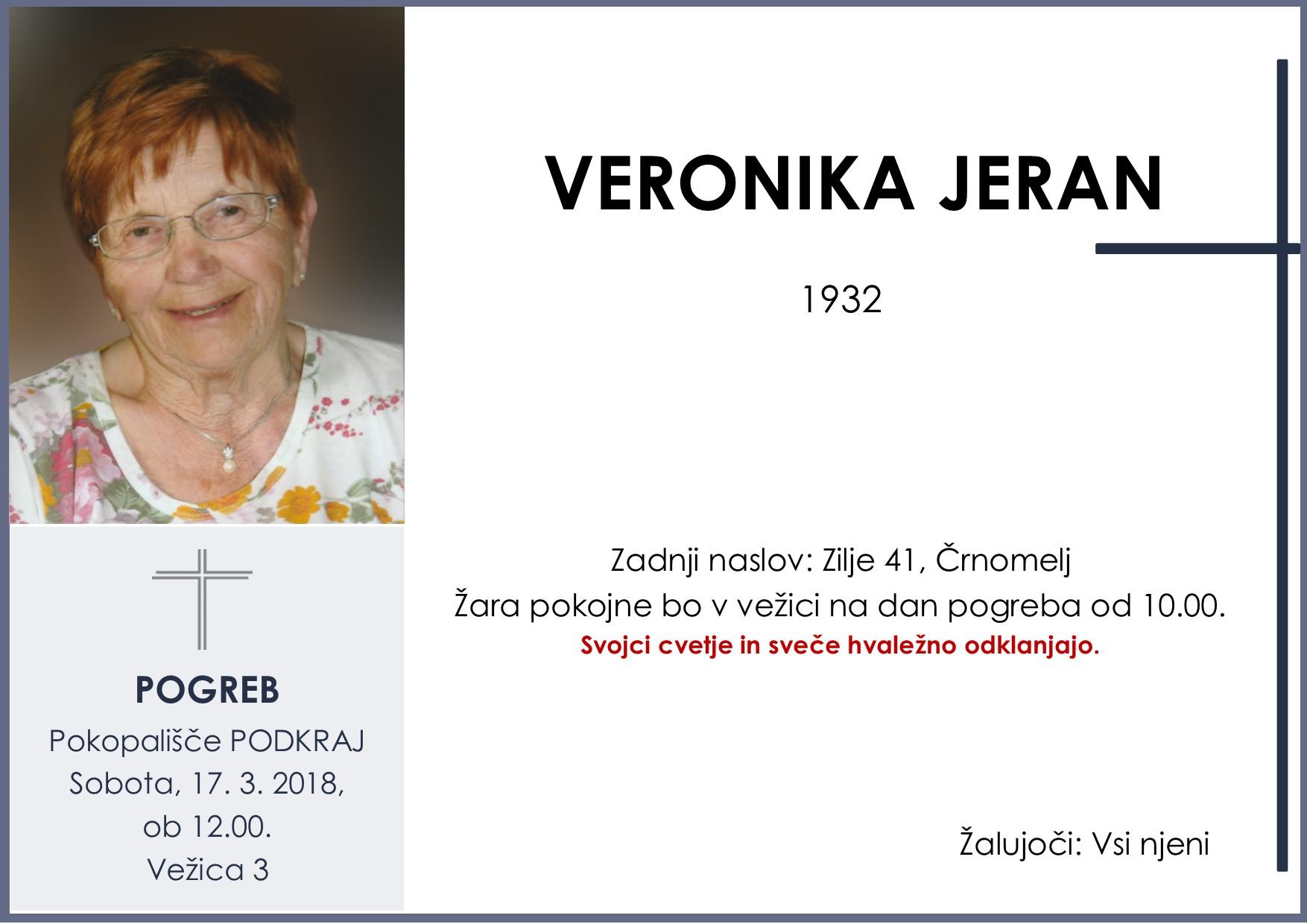 VERONIKA JERAN, Podkraj, 17. 03. 2018