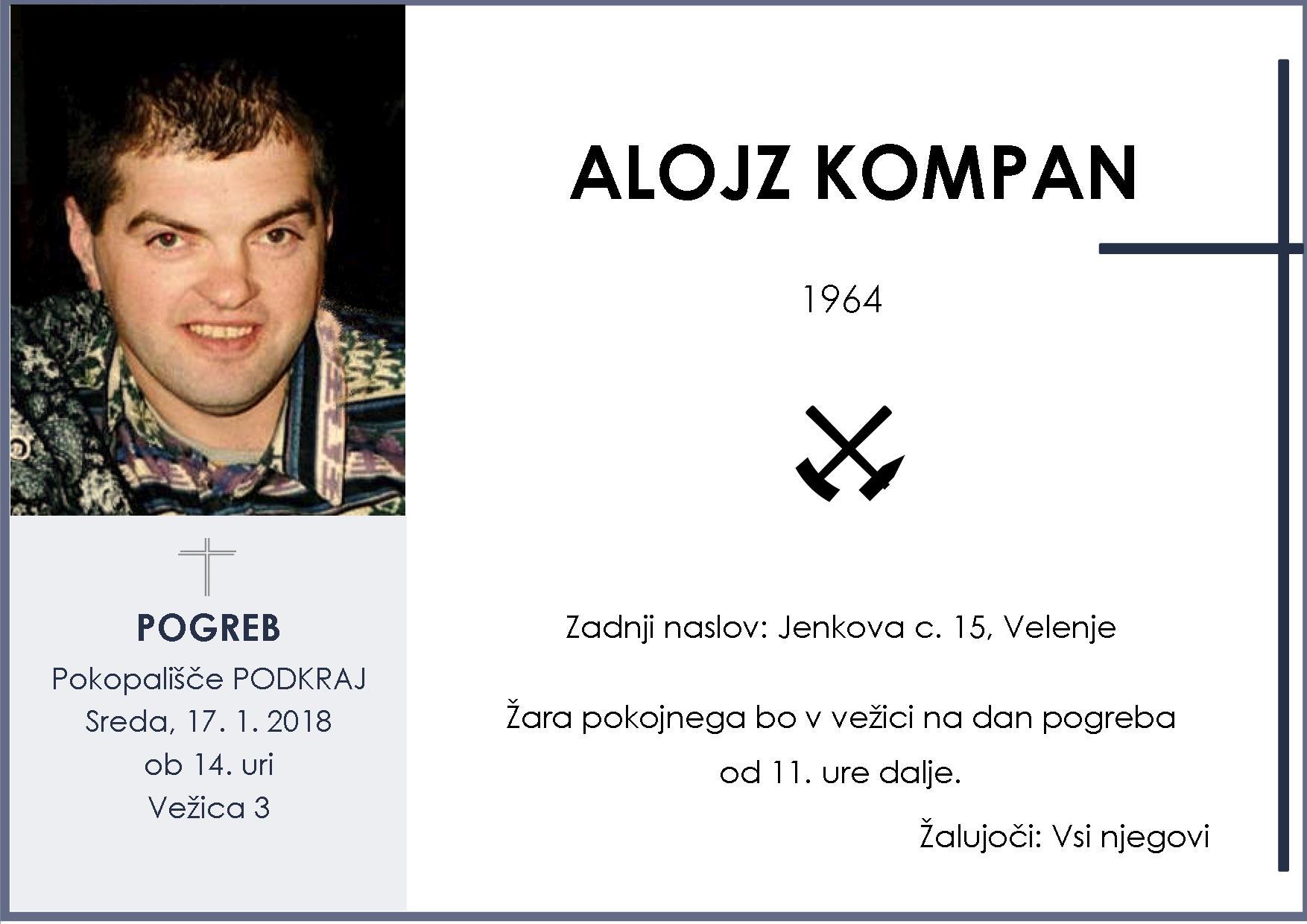 ALOJZ KOMPAN, Podkraj, 17. 01. 2018