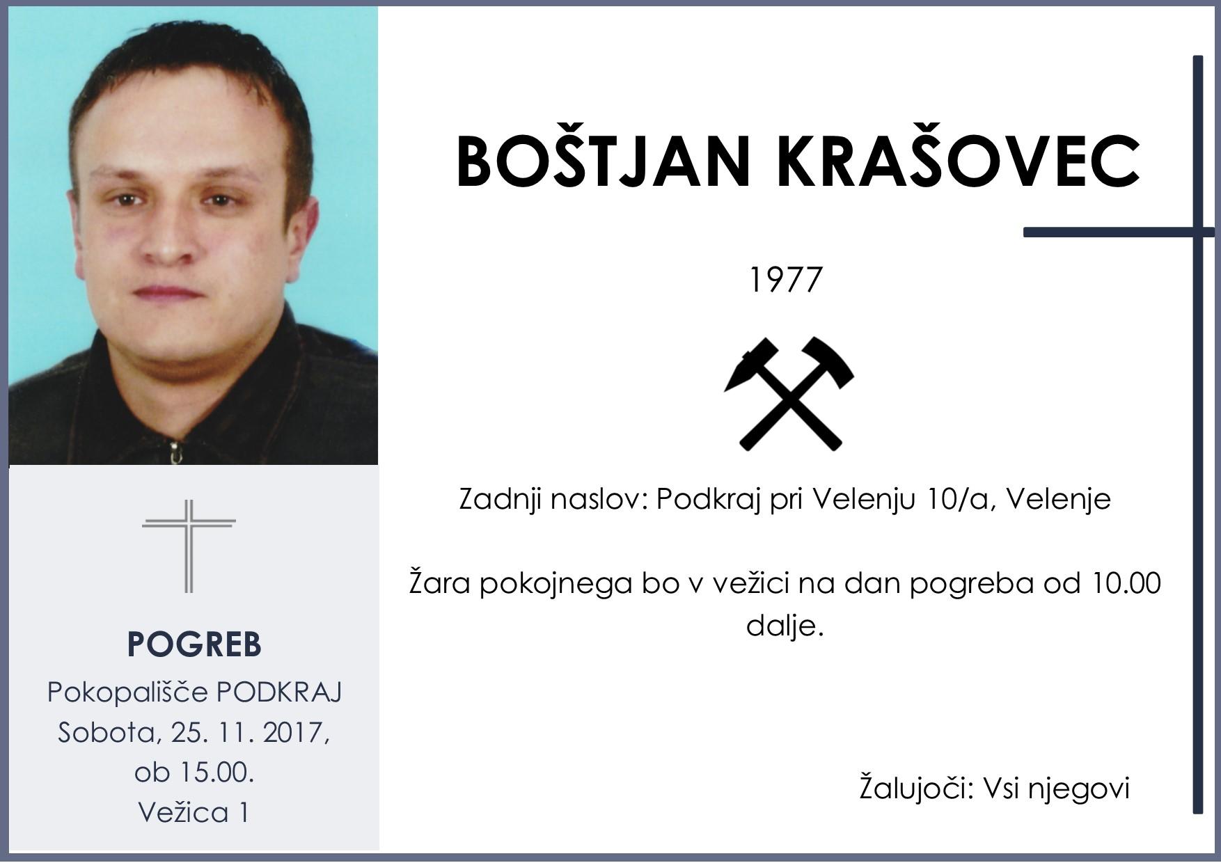 BOŠTJAN KRAŠOVEC, Podkraj, 25. 11. 2017