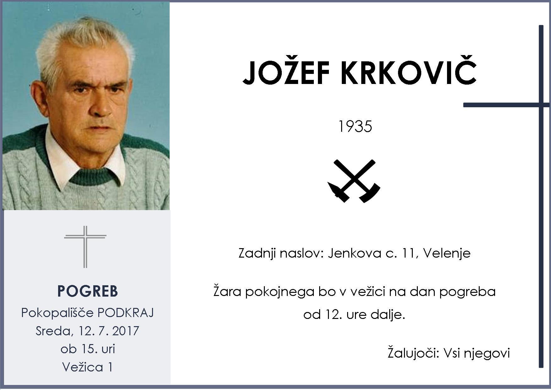 JOŽEF KRKOVIČ, Podkraj, 12. 7. 2017