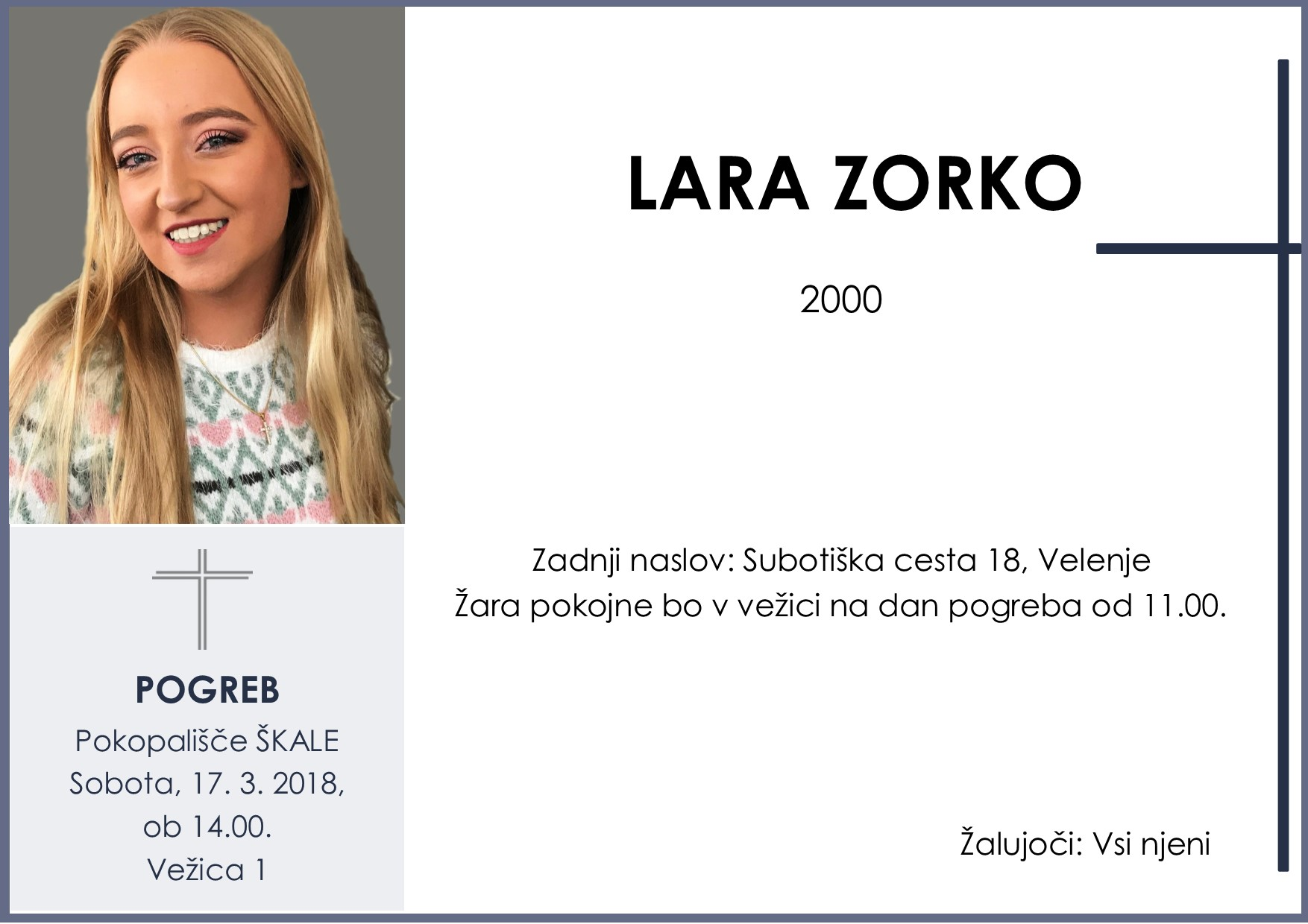 LARA ZORKO, Škale, 17. 03. 2018