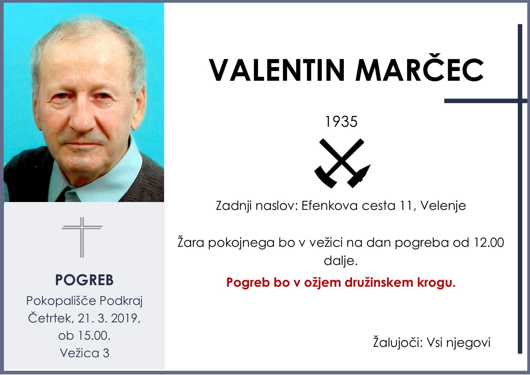 VALENTIN MARČEC, Podkraj, 21. 03. 2019