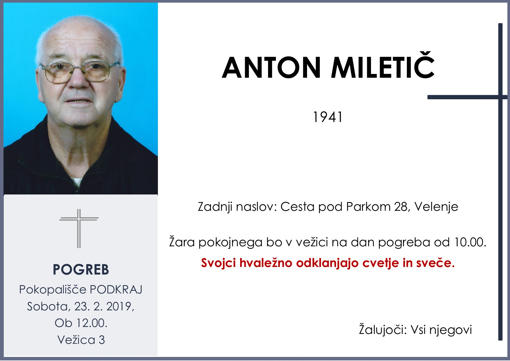 ANTON MILETIČ, Podkraj, 23. 02. 2019