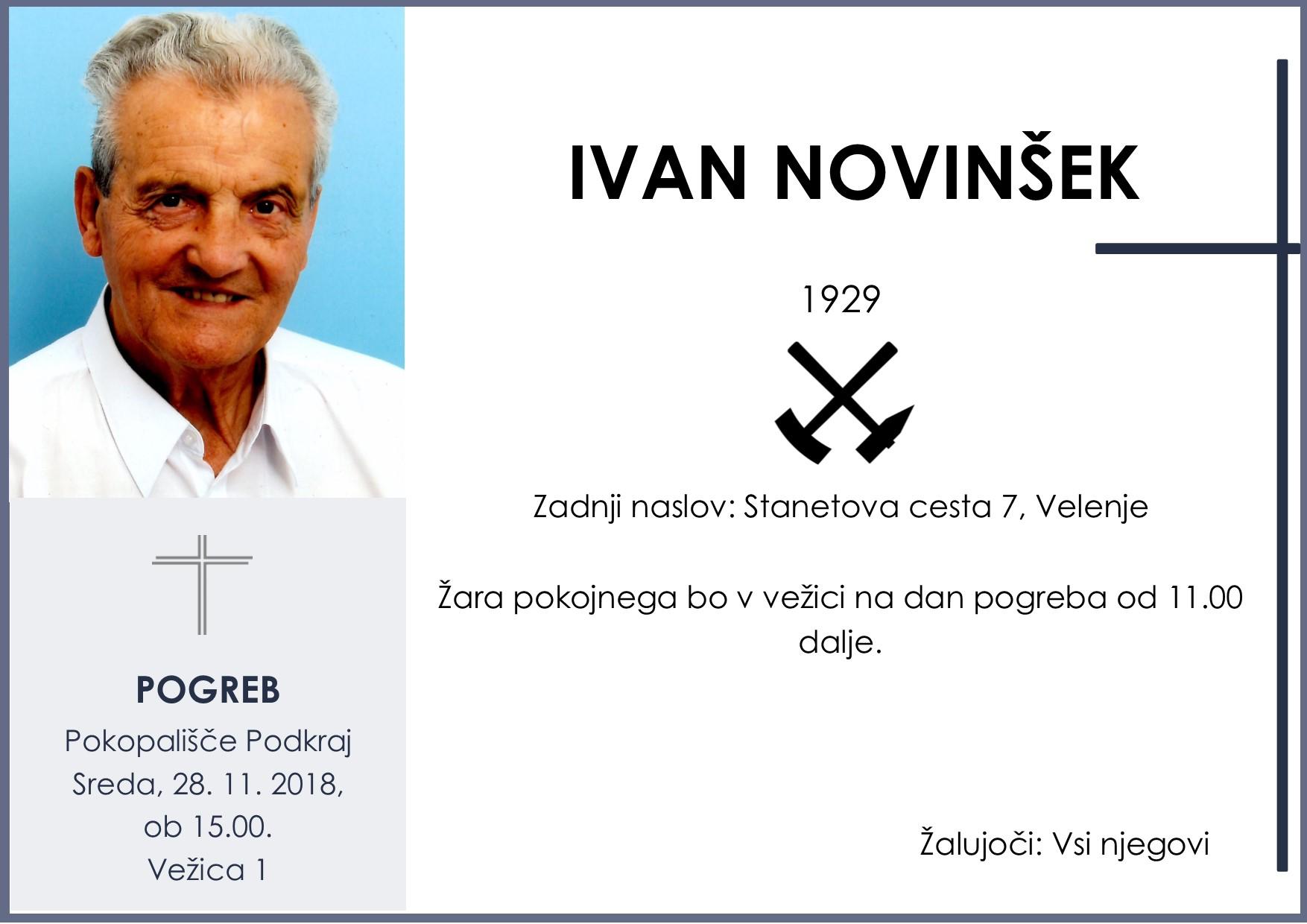 IVAN NOVINŠEK, Podkraj, 28. 11. 2018