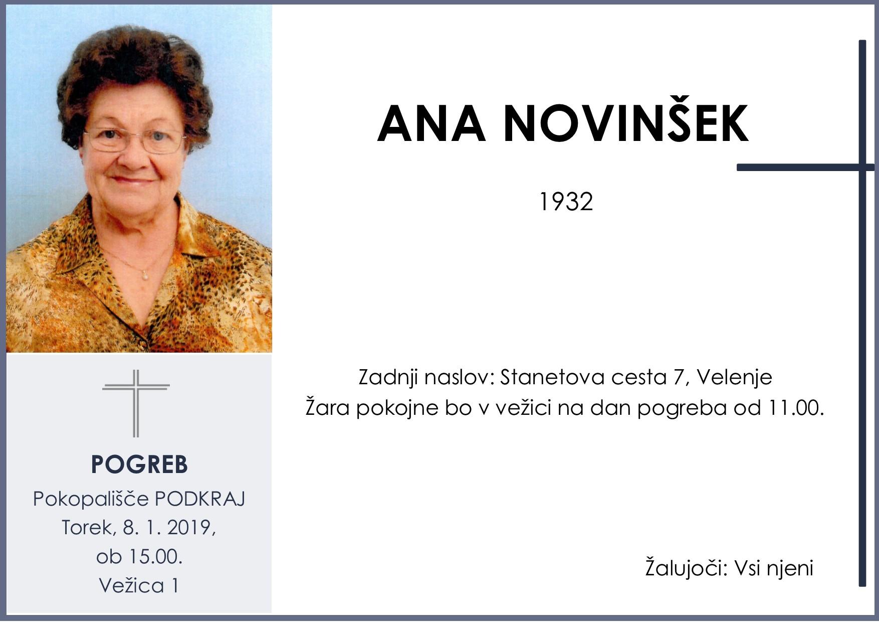 ANA NOVINŠEK, Podkraj, 08. 01. 2019