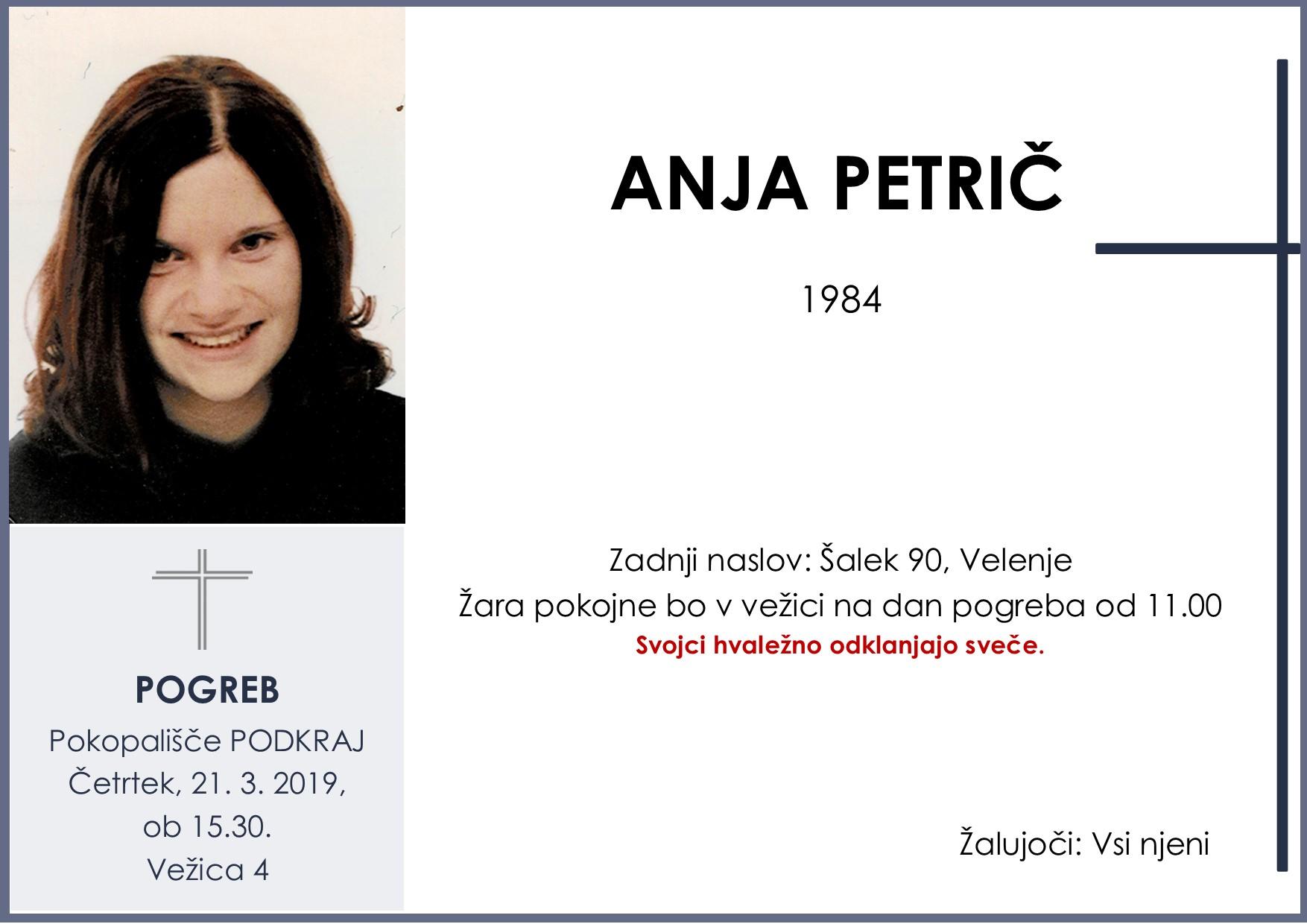 ANJA PETRIČ, Podkraj, 21. 03. 2019