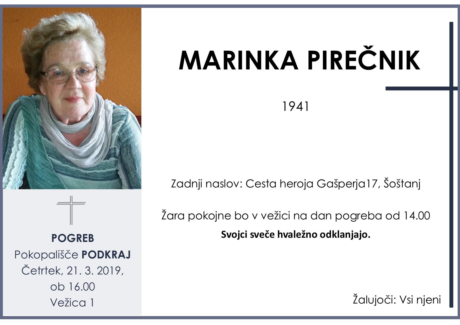 MARINKA PIREČNIK, Podkraj, 21. 03. 2019