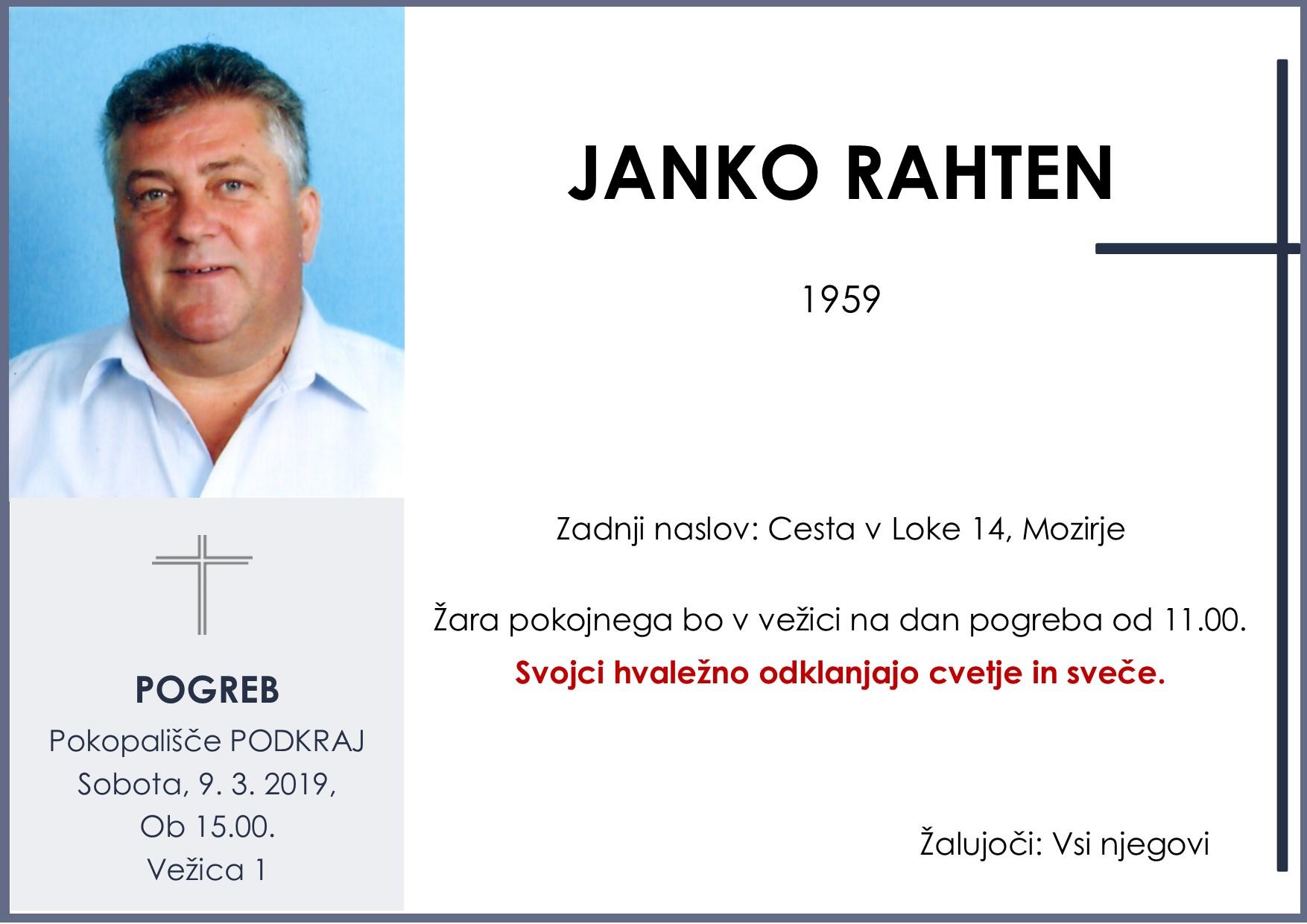 JANKO RAHTEN, Podkraj, 09. 03. 2019