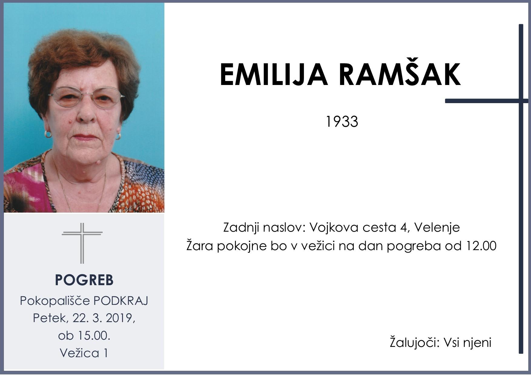 EMILIJA RAMŠAK, Podkraj, 22. 03. 2019