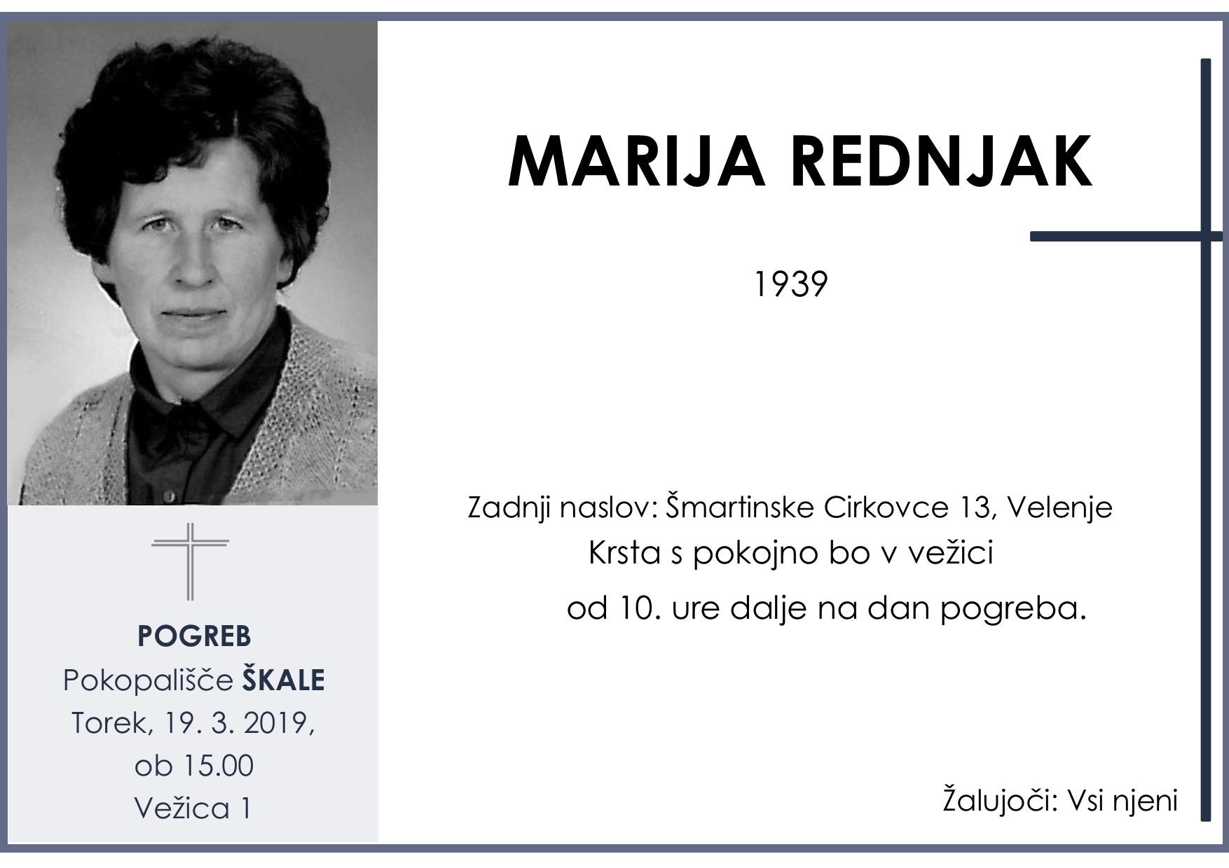 MARIJA REDNJAK, Škale, 19. 03. 2019