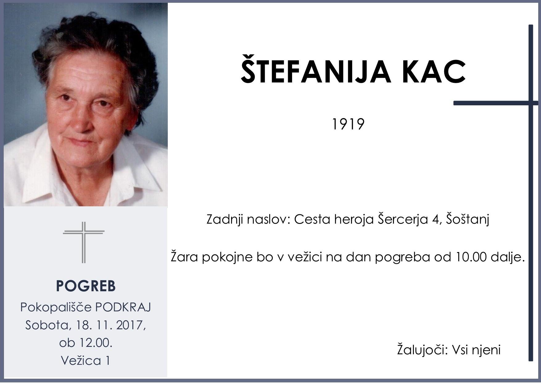 ŠTEFANIJA KAC, Podkraj, 18. 11. 2017