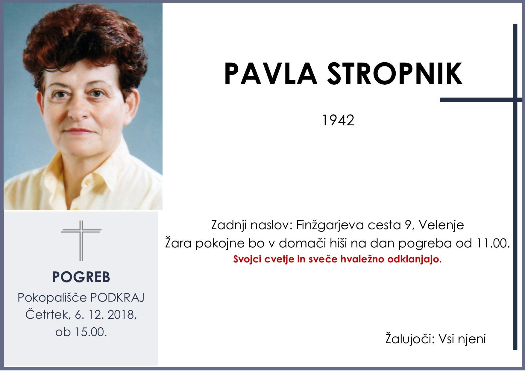 PAVLA STROPNIK, Podkraj, 06. 12. 2018