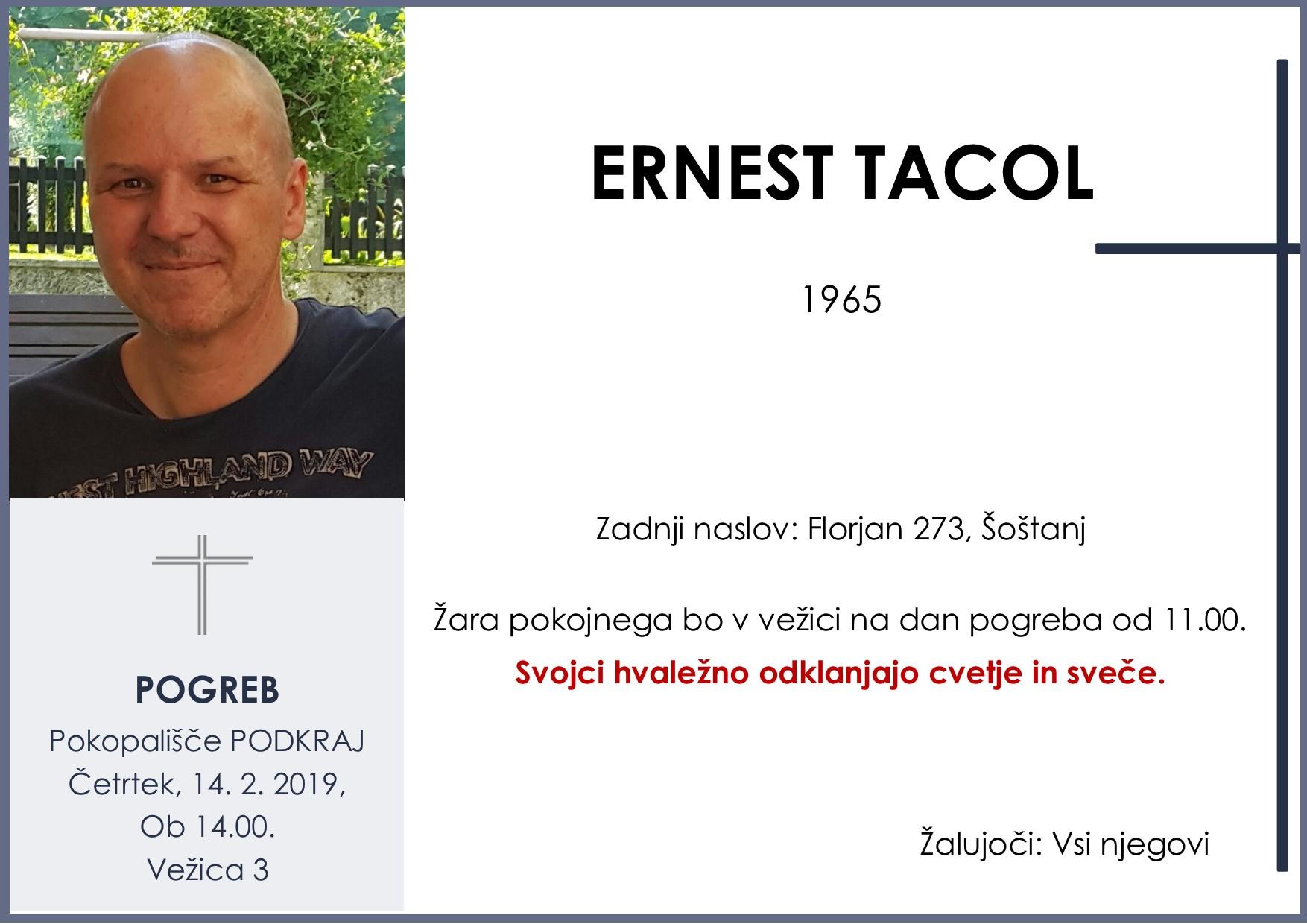 ERNEST TACOL, Podkraj, 14. 02. 2019