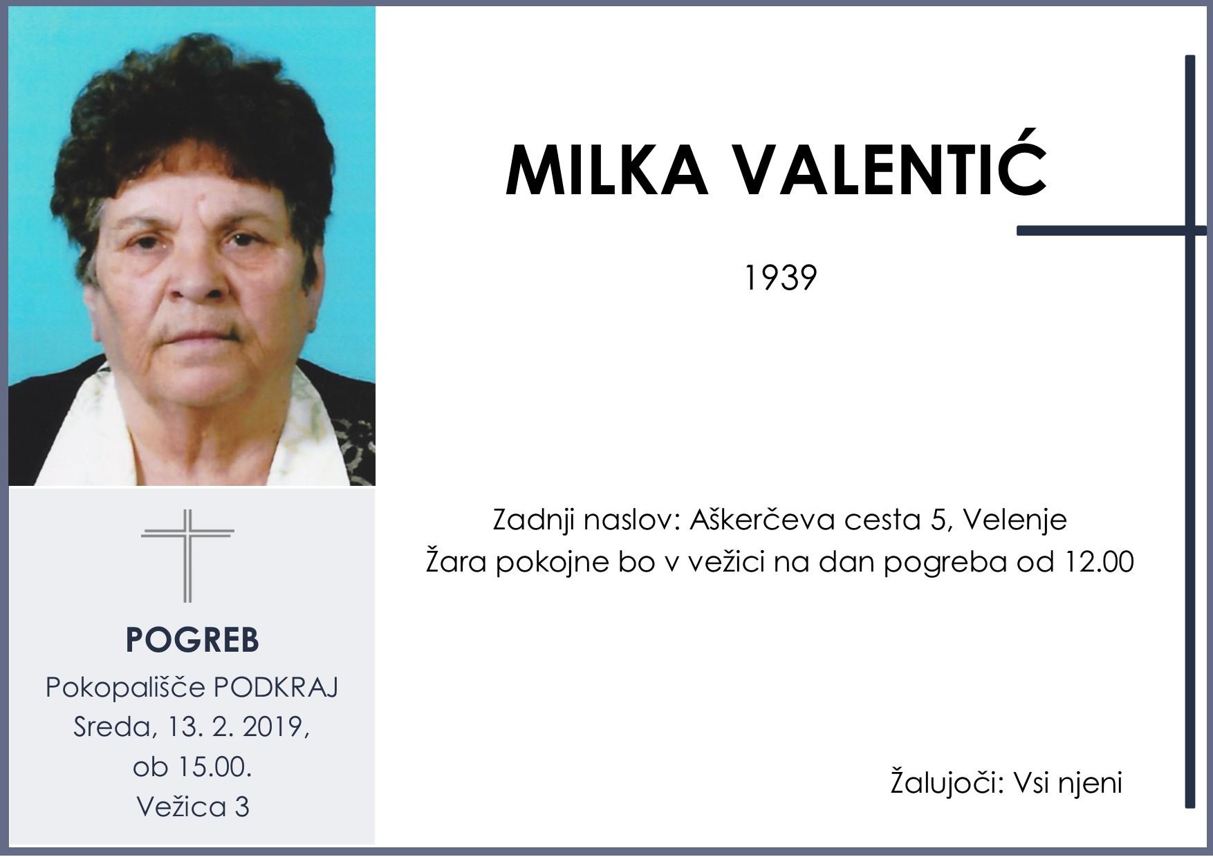 MILKA VALENTIĆ, Podkraj, 13. 02. 2019