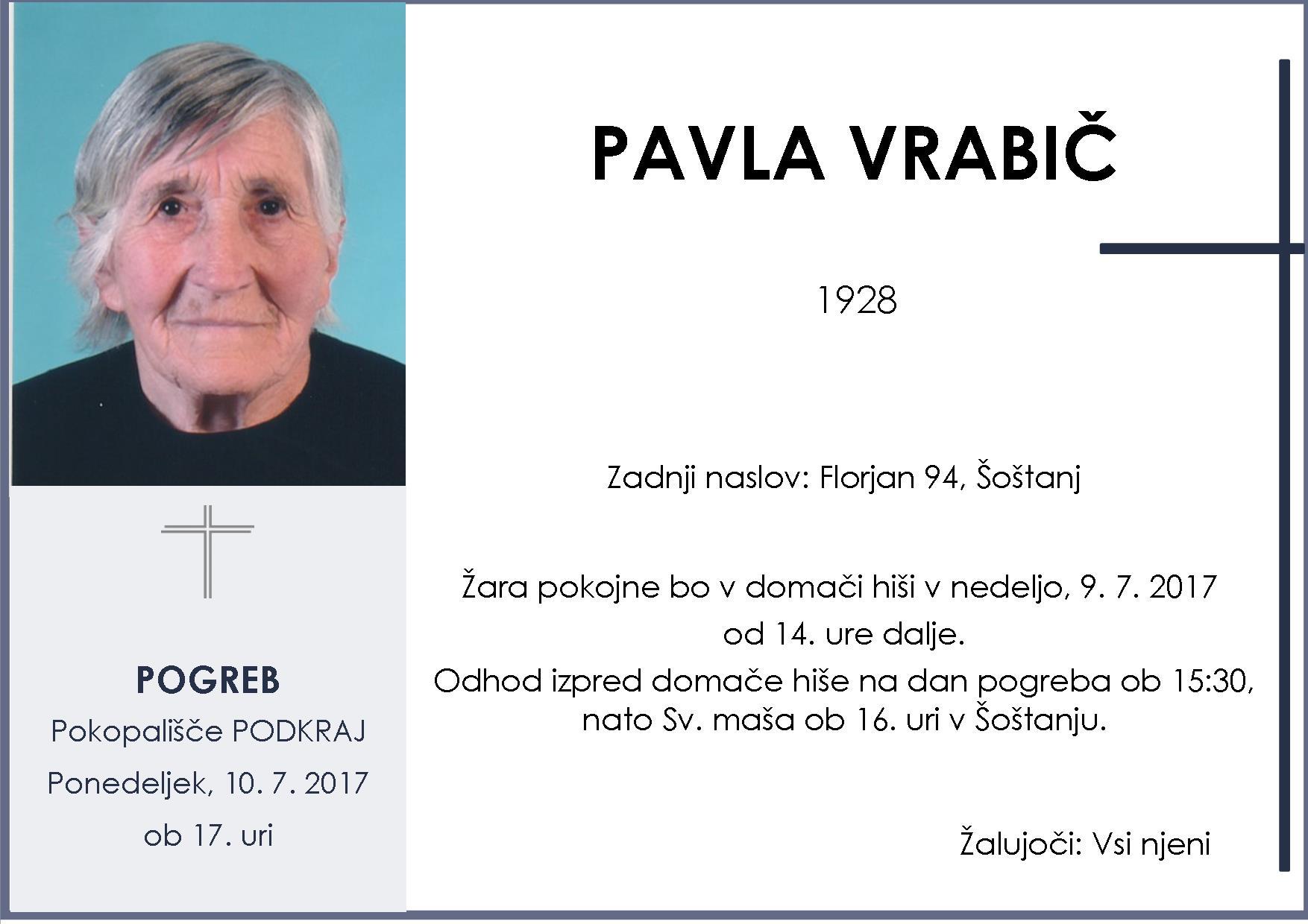 PAVLA VRABIČ, Podkraj, 10. 7. 2017