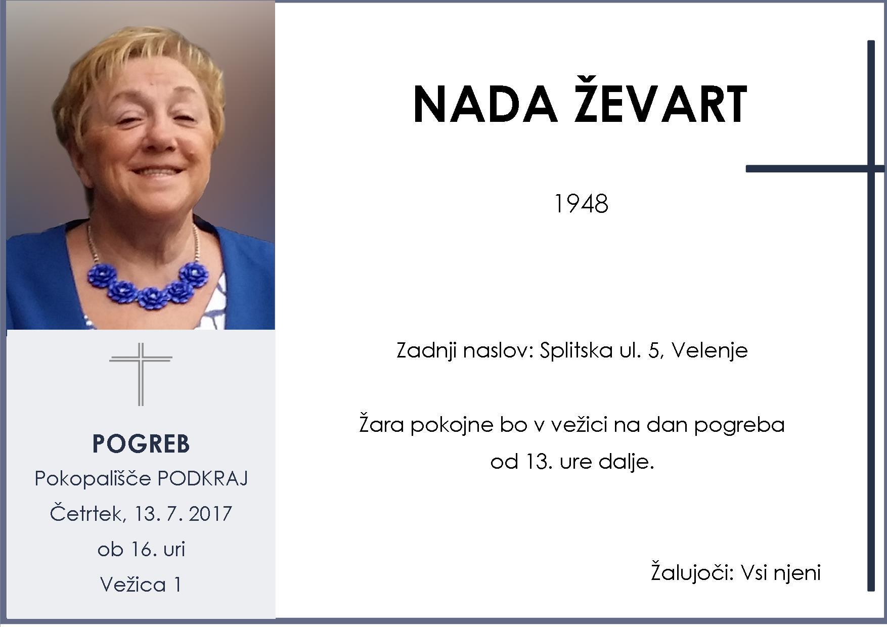 NADA ŽEVART, Podkraj, 13. 7. 2017