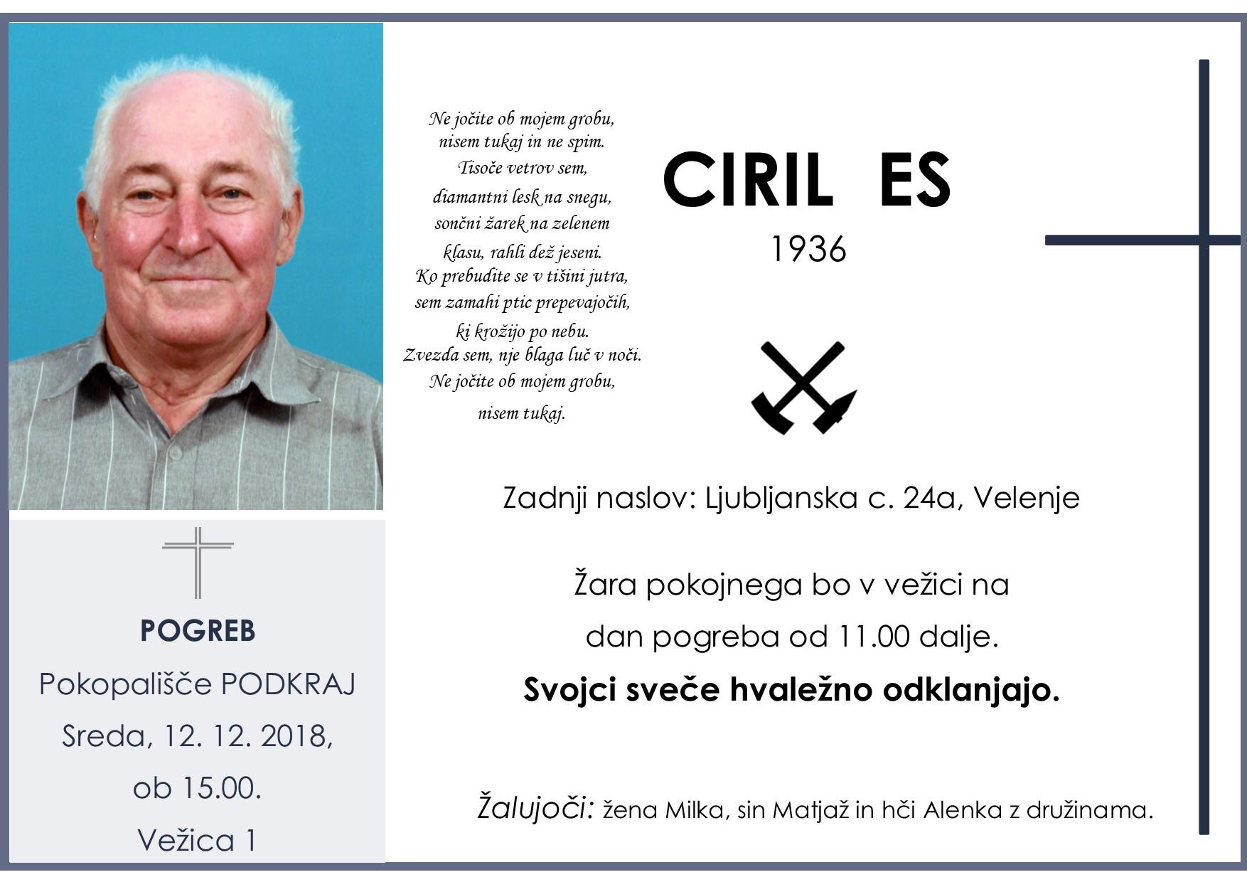CIRIL ES, Podkraj, 12. 12. 2018